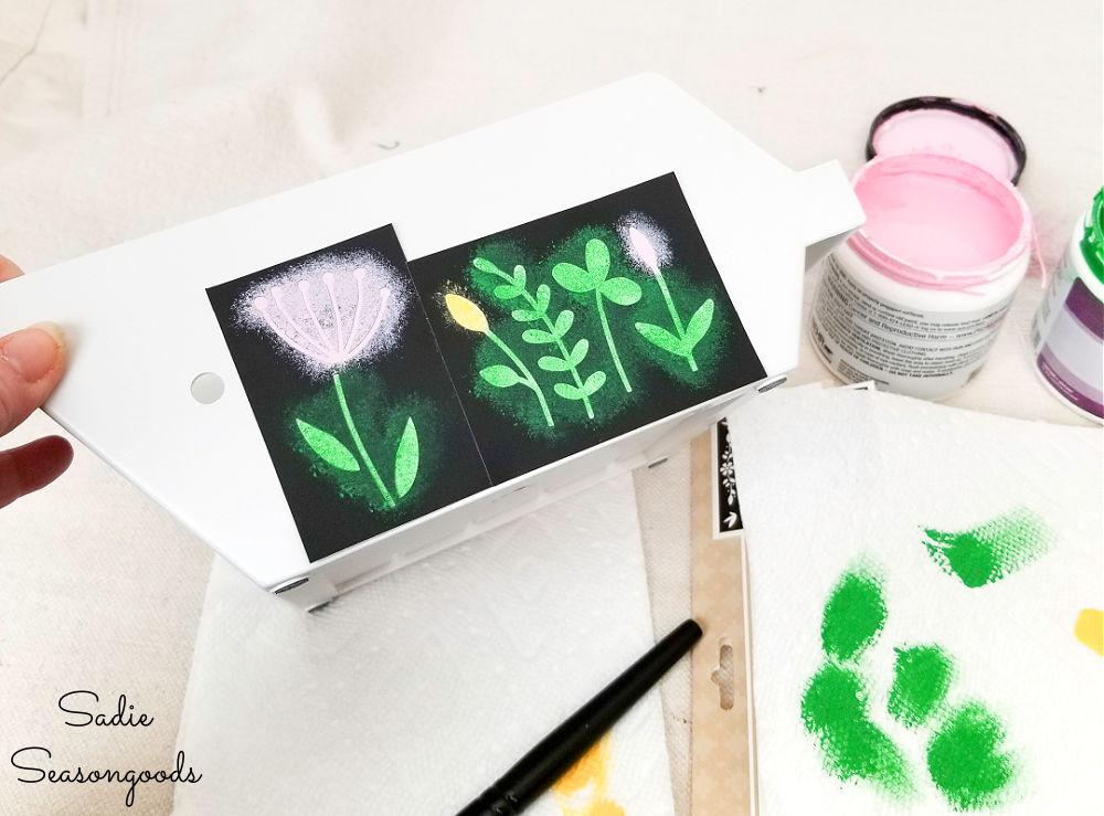 using a wildflowers stencil