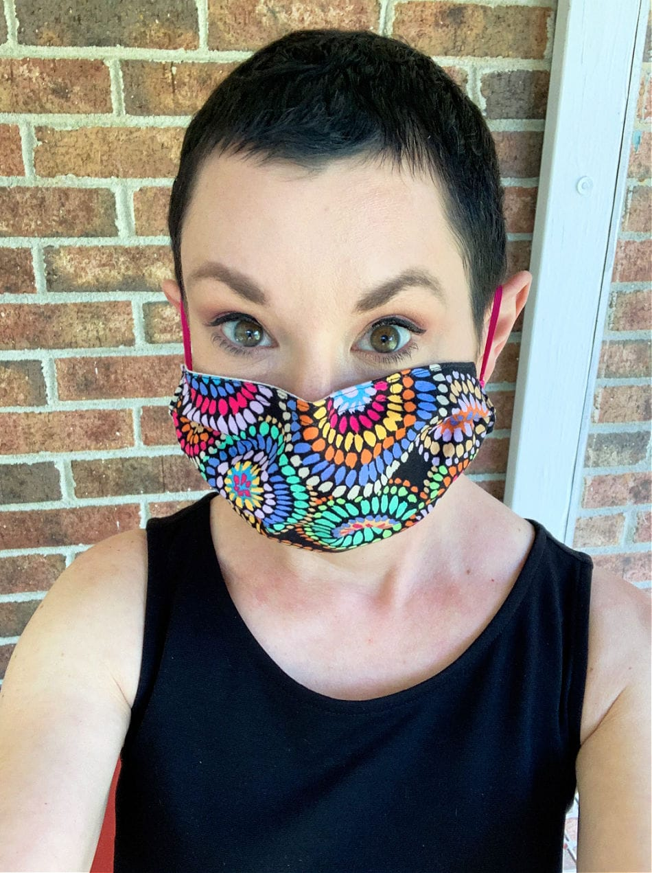 recycled face mask by the refashionista