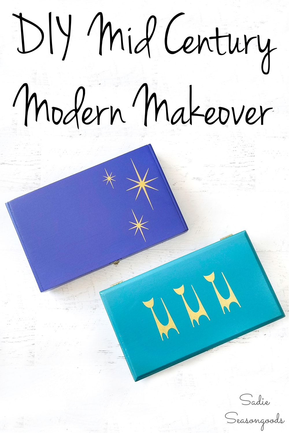 stencils for a mid century makeover
