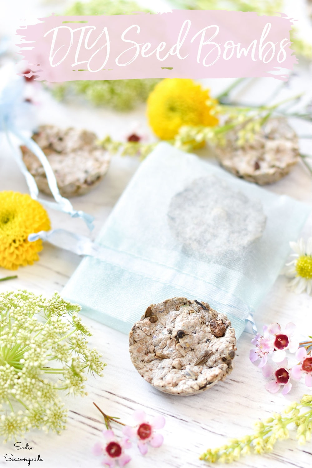wildflower seed bombs with a mini muffin pan