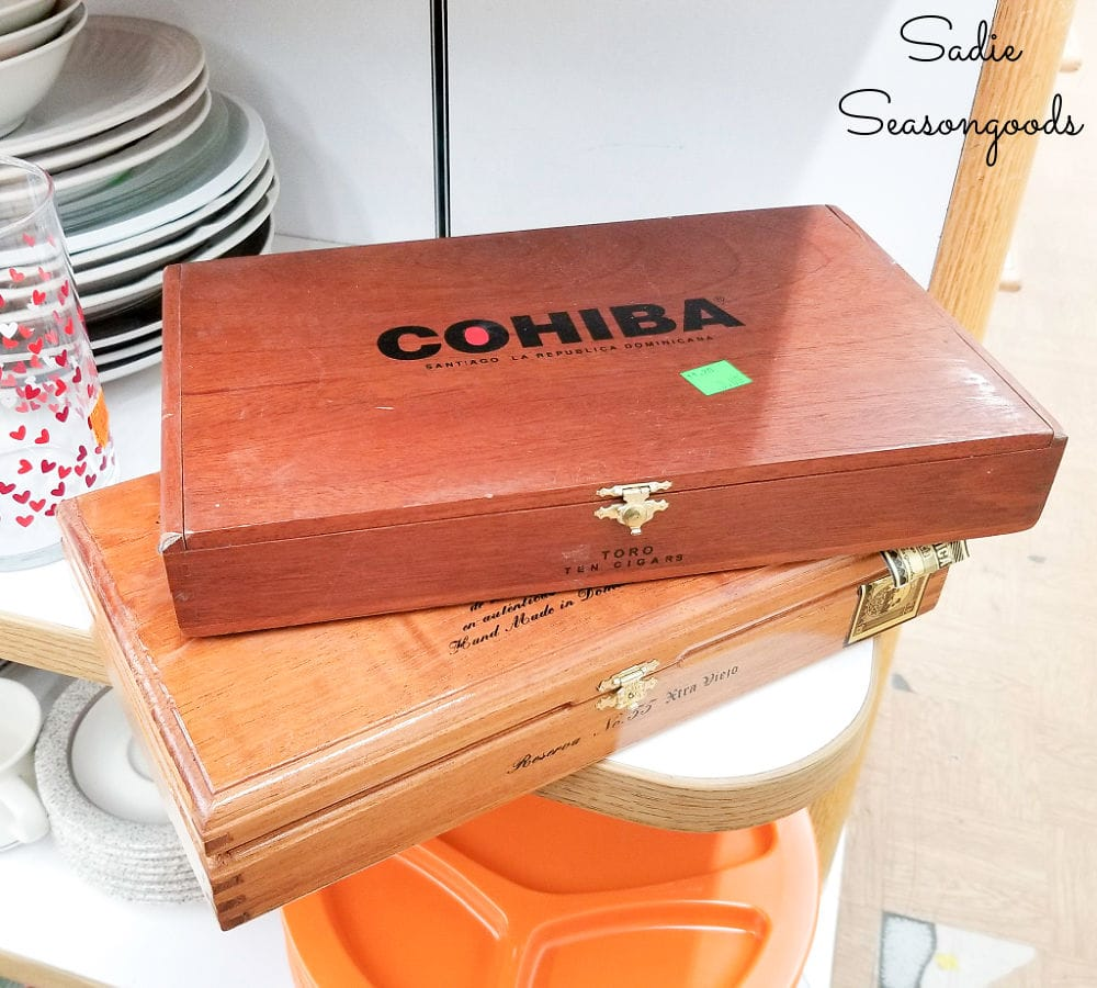 wooden cigar boxes