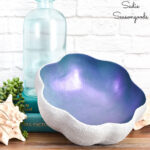 Clam Shell Bowl with Baking Soda Paint