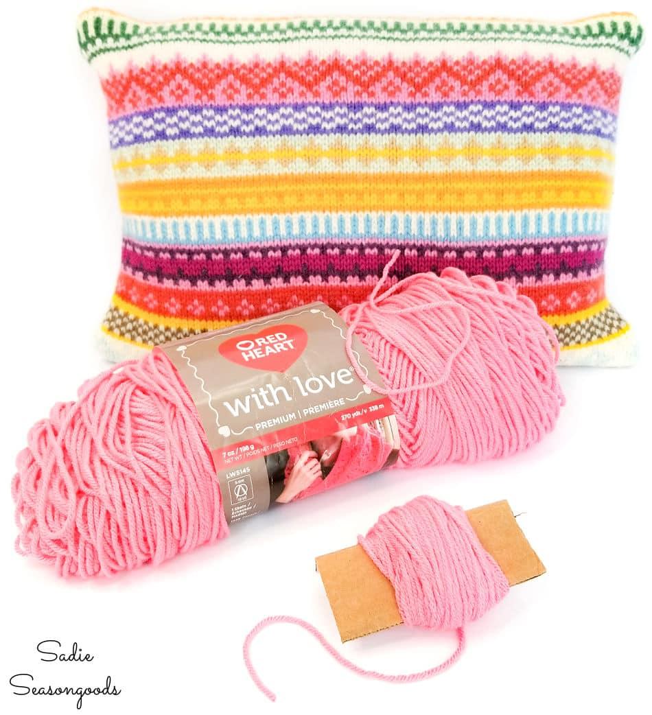 making yarn pom poms for boho chic pillows