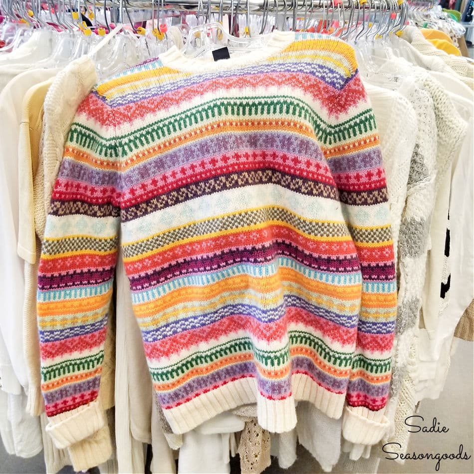sweater for upcycling project at goodwill
