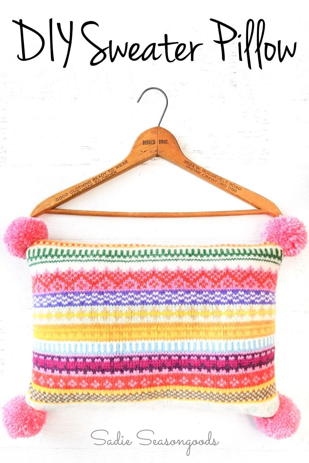 sweater pillow covers