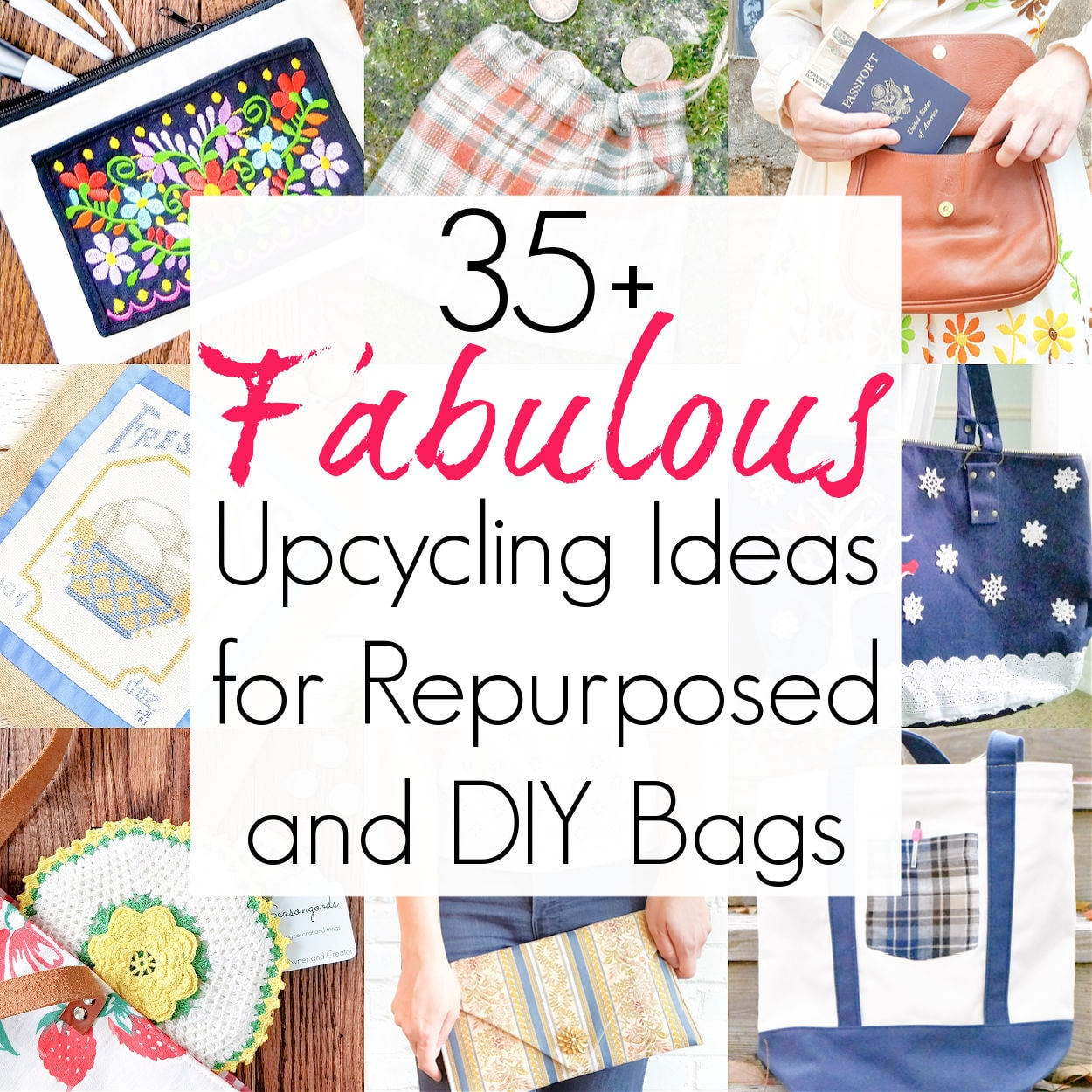 35+ Upcycling Ideas for DIY Bags