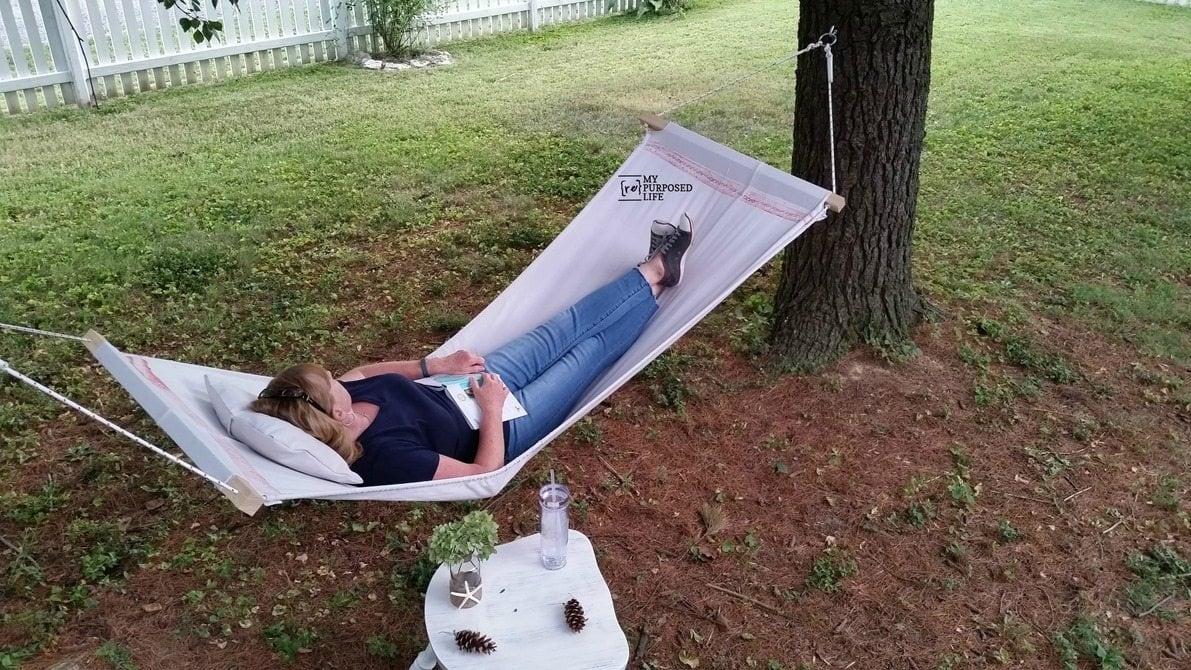 diy hammock from a drop cloth
