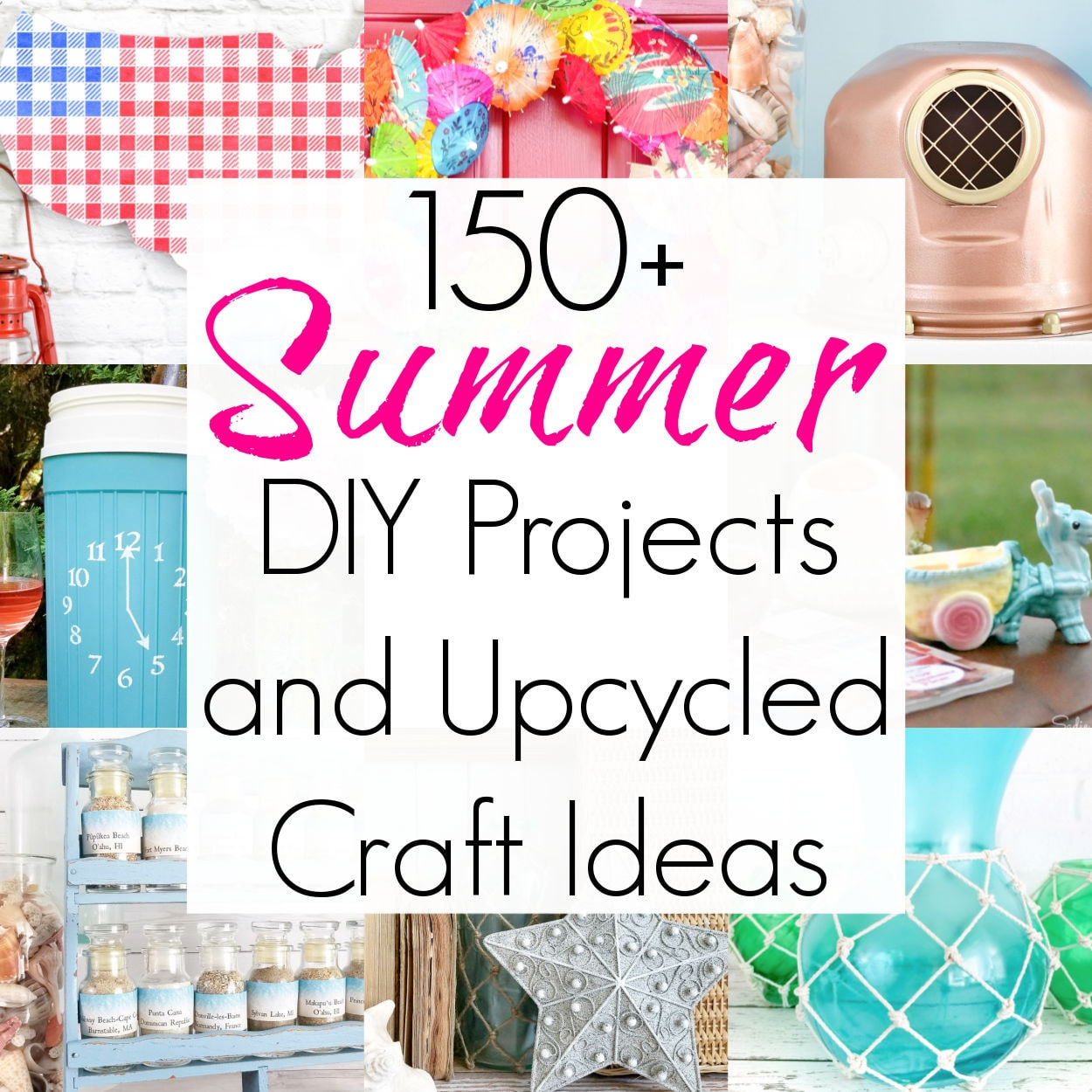 150+ Summer DIYs and Thrift Store Makeovers