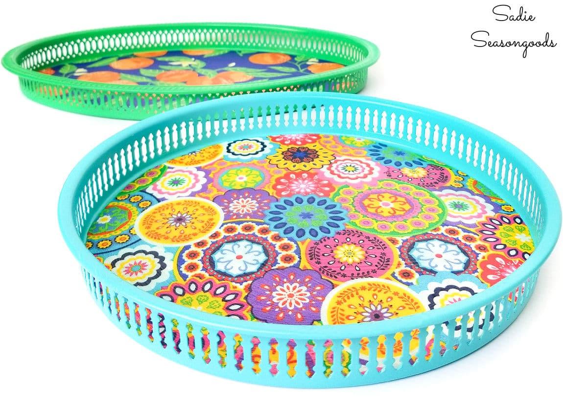 boho serving trays for summer