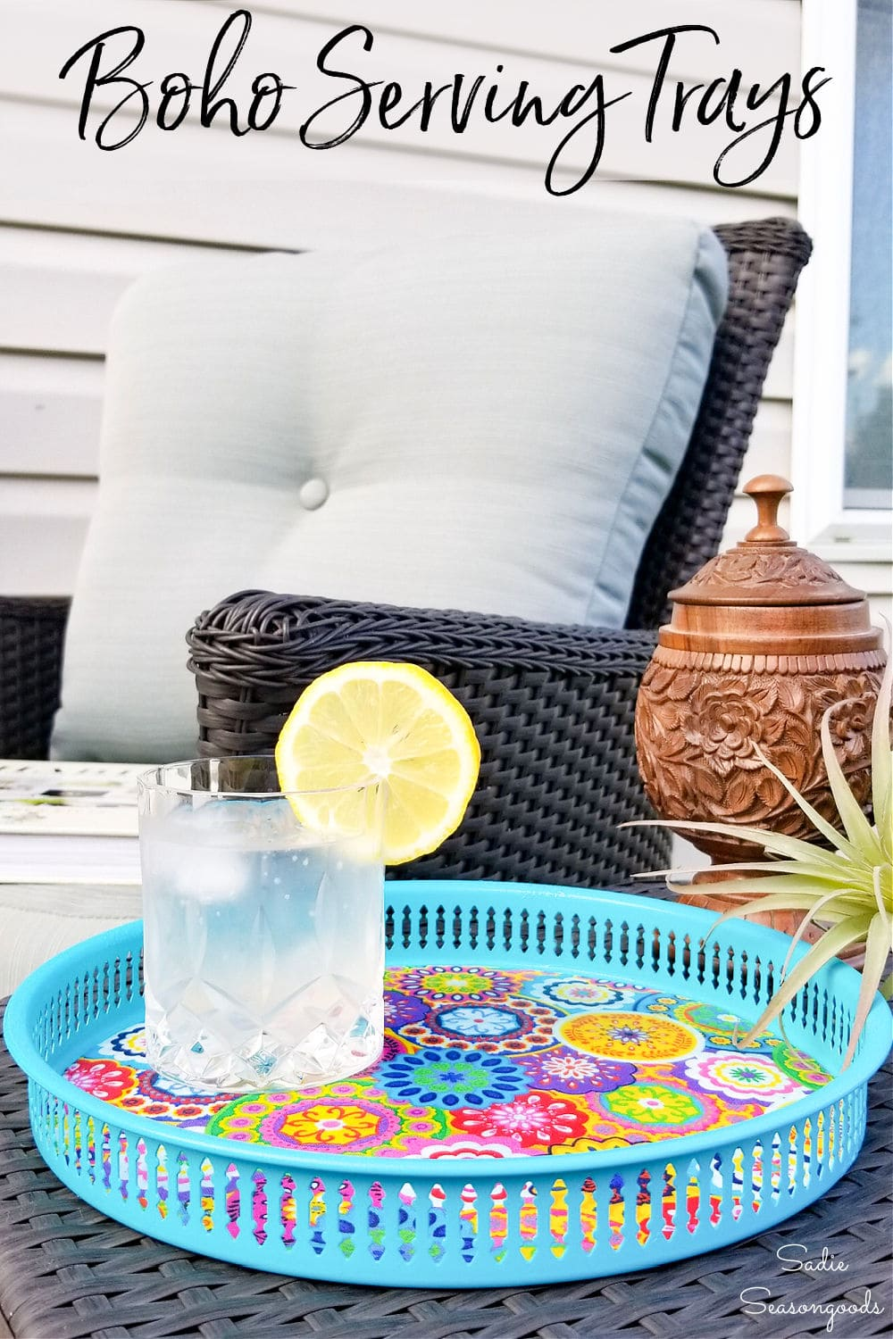 outdoor serving trays
