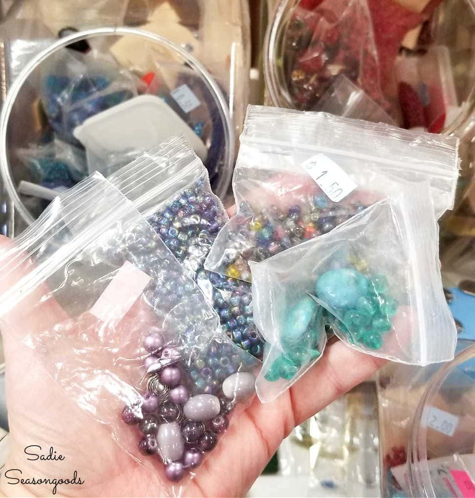 beads at a creative reuse center