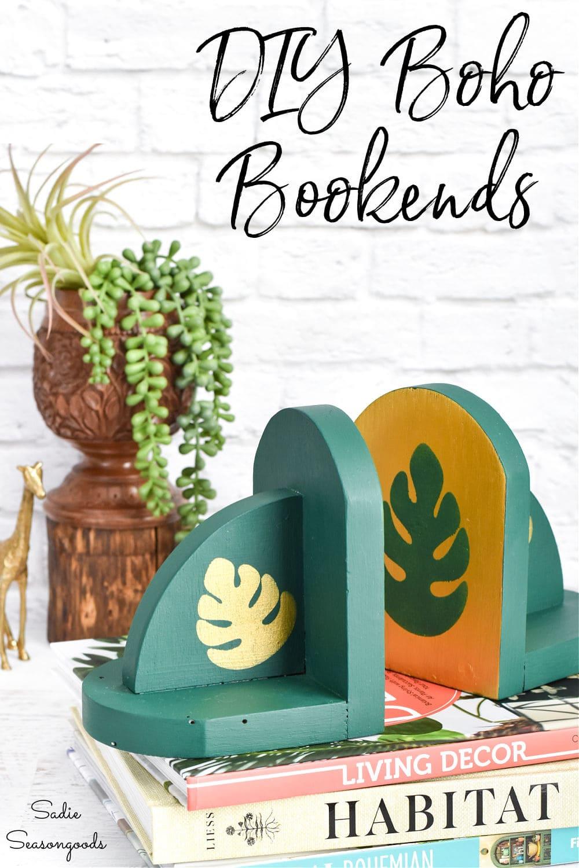 bohemian home decor with boho bookends