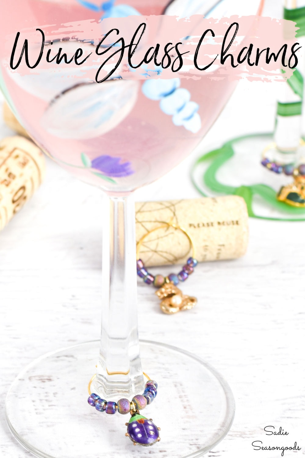 jewelry crafts for wine glass charms