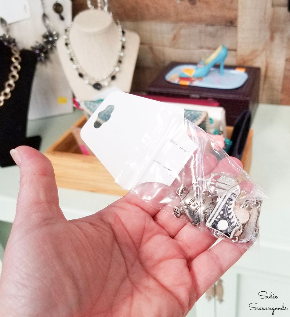 necklace charms for upcycling