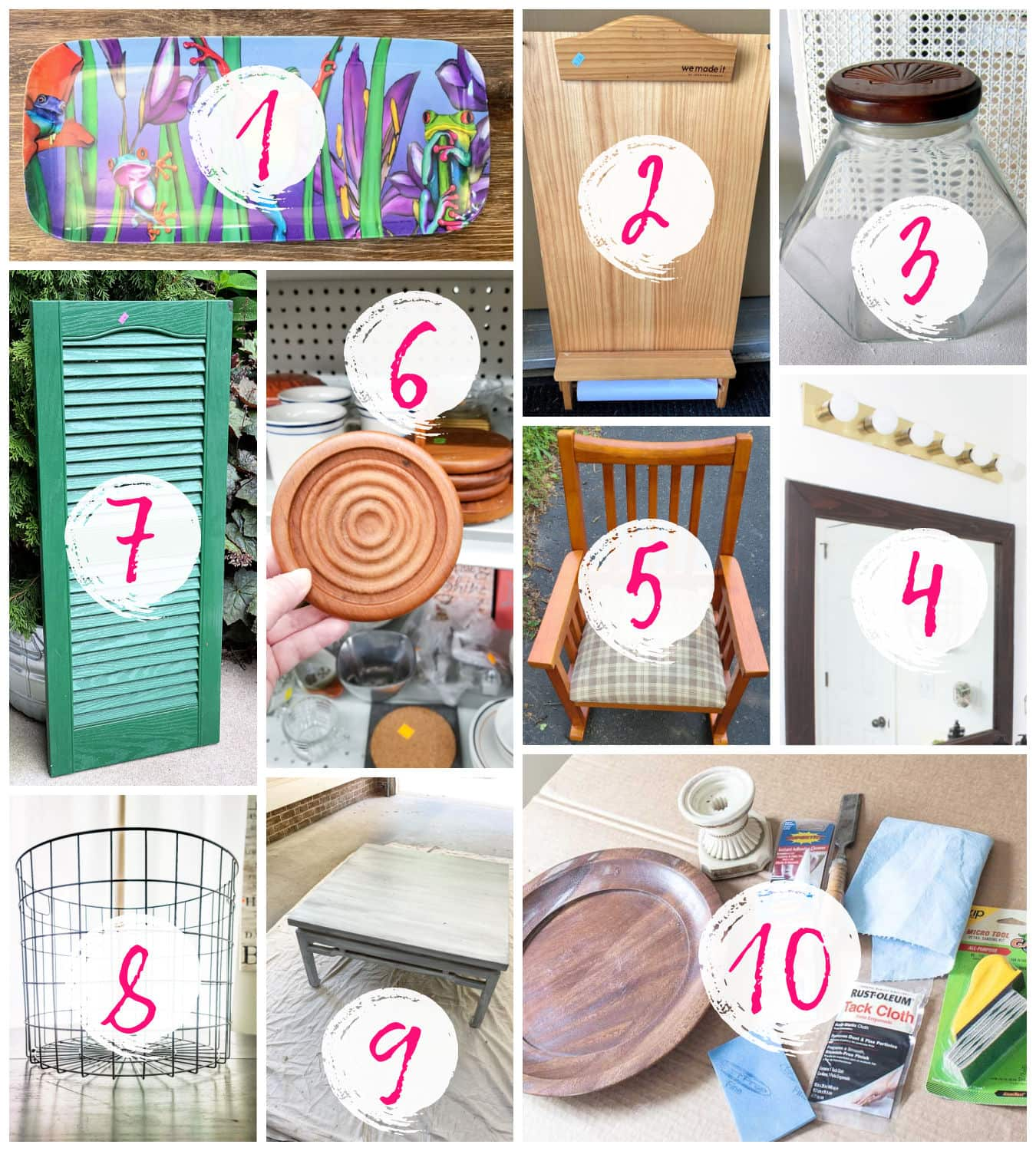 thrift store makeovers and repurposing ideas