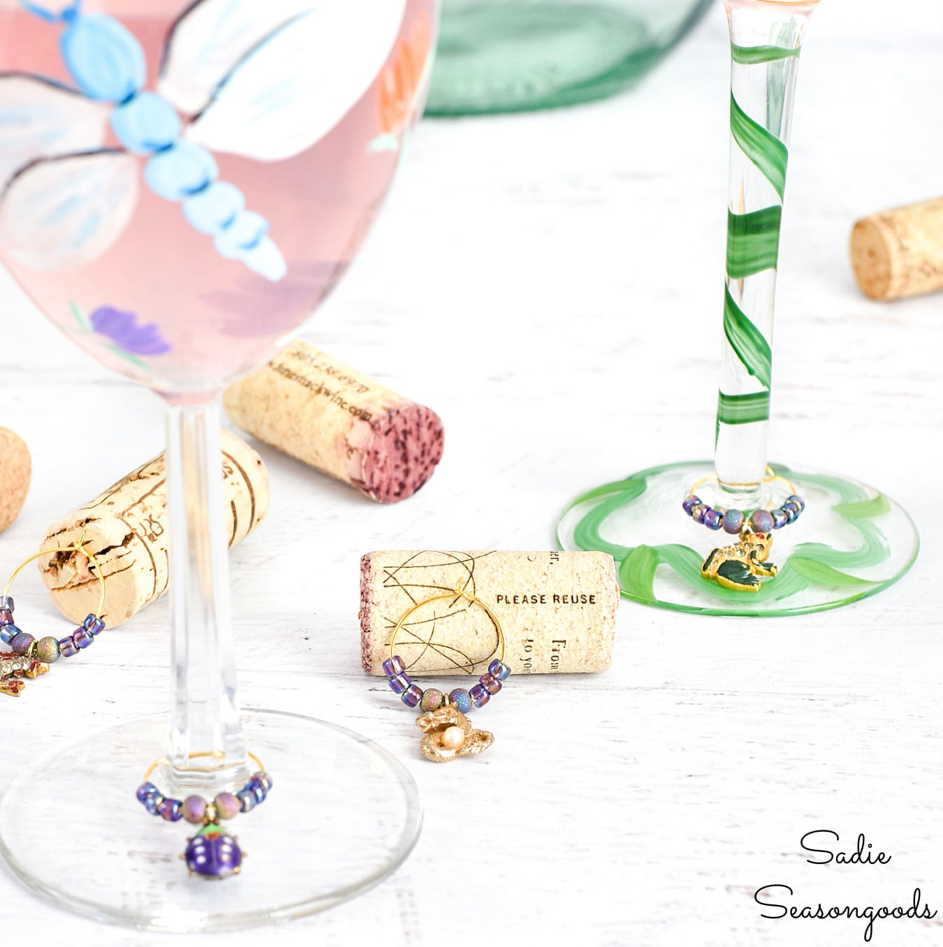 Upcycling Jewelry into Wine Glass Charms