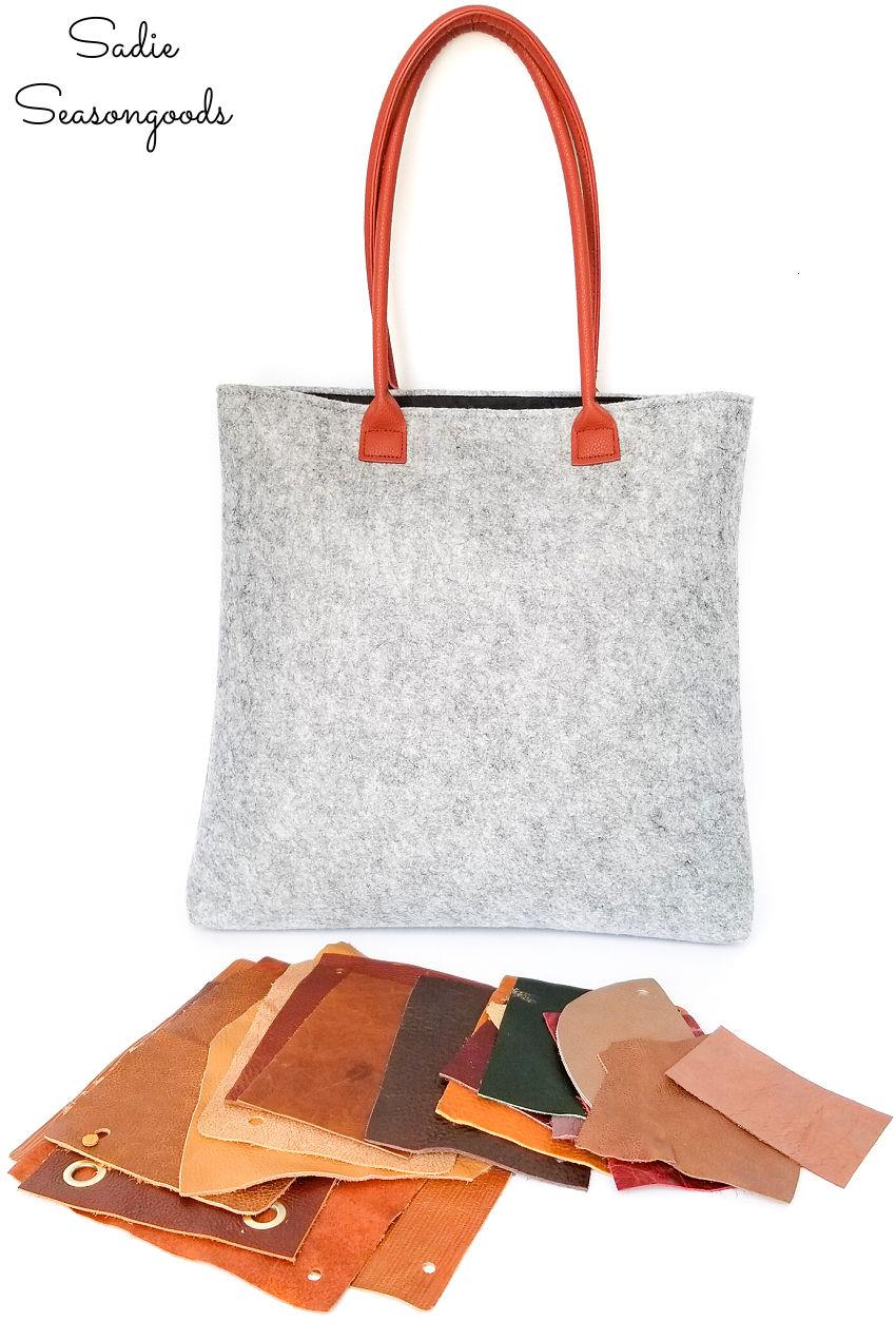 decorating a tote bag