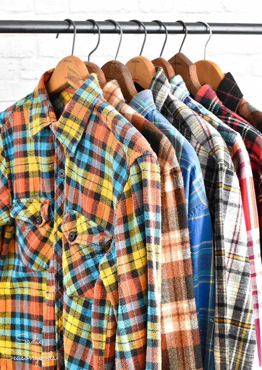 flannel shirts for upcycling