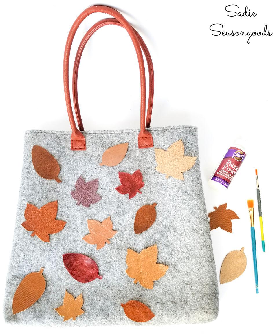making a fall purse