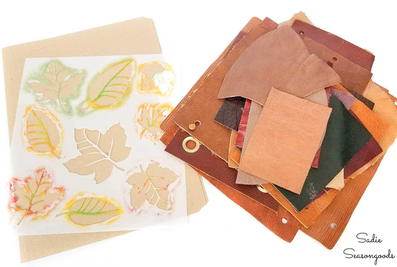 making leaf patterns from a stencil