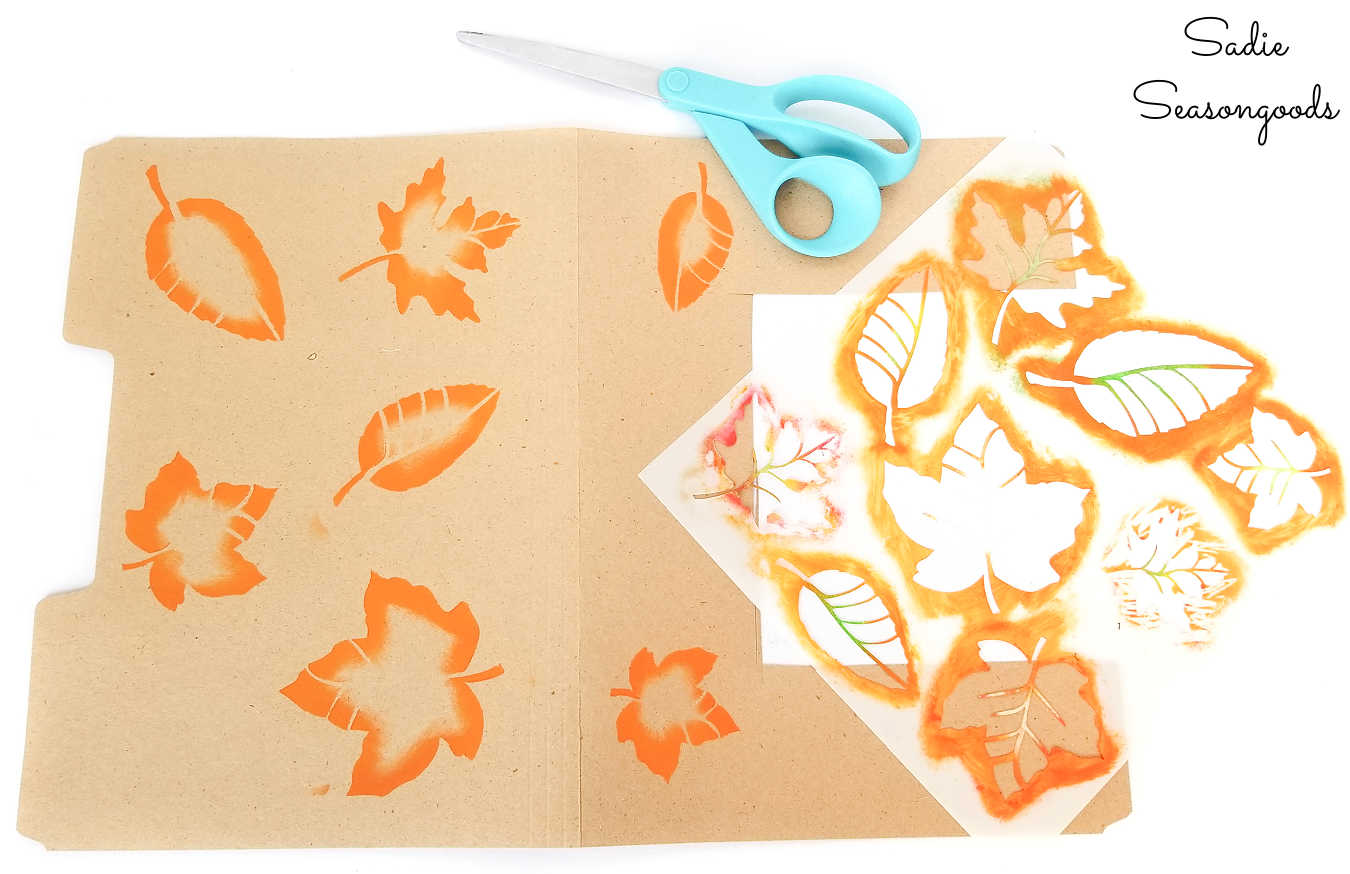 stenciling on cardstock to make patterns