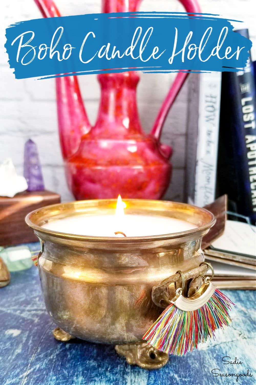 boho candle holder