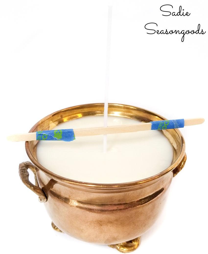 finishing a boho candle