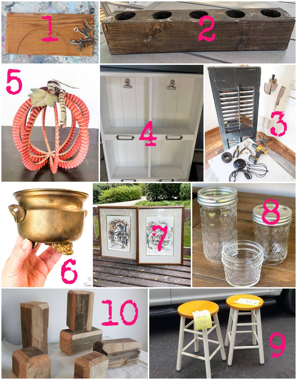 thrift store decor and upcycling ideas
